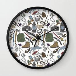 Adventure Equipment Wall Clock