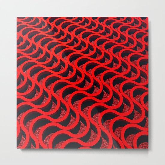 Red Snakes Metal Print