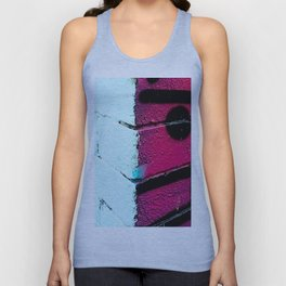 Wall, East London, Shock Pink Unisex Tank Top
