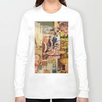 meat Long Sleeve T-shirts featuring Meat Ladies by Stella Noelle