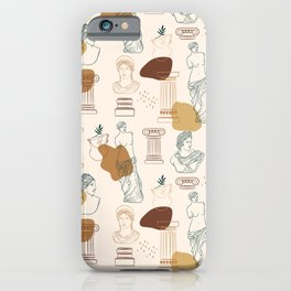 Ancient Greek Gods-Pattern iPhone Case