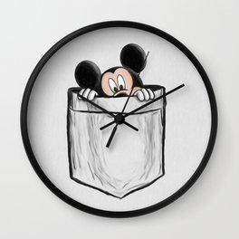 Mickey in the Pocket Wall Clock