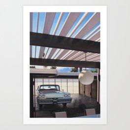 Mercury In Krisel Carport Art Print