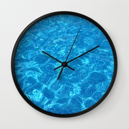 waves gently splashing on the beach - it's time to make a wish Wall Clock