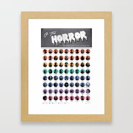 Oh, the Horror! Framed Art Print
