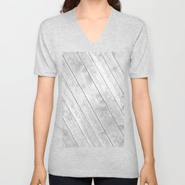 Rustic country white gray abstract wood  Unisex V-Neck