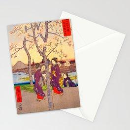 Utagawa Hiroshige - 36 Views of Mt.Fuji - Sumidazutsumi in the Eastern Capital - Digital Remastered Edition Stationery Cards