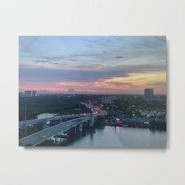 Sunny Isles Bridge Metal Print