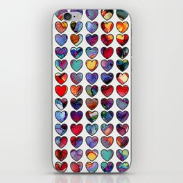 Painted Hearts iPhone Skin