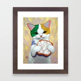 MARDI GRAS CATCH Framed Art Print