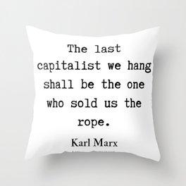 3     Karl Marx Quotes   190817 Throw Pillow