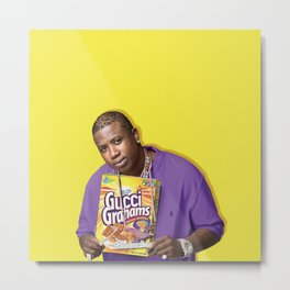 Gucci Grahams | Rappers and Cereal Metal Print