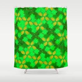 Pineapple shadows festival Shower Curtain