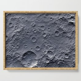Moon Surface Serving Tray