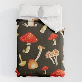 Brigt Mushrooms Comforters