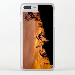 Rock in fire Clear iPhone Case