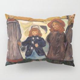 Four Girls in Åsgårdstrand by Edvard Munch Pillow Sham