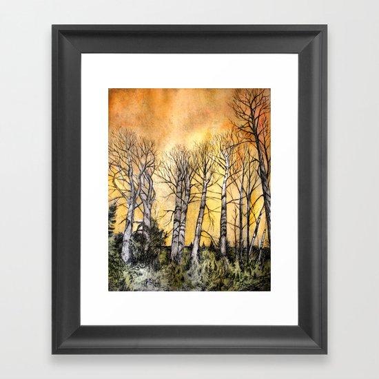 Orange Glow  Framed Art Print