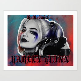 SUICIDE SQUAD's Harley Quinn Crazy-Drawing Art Print