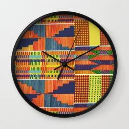 Bright Kente Wall Clock