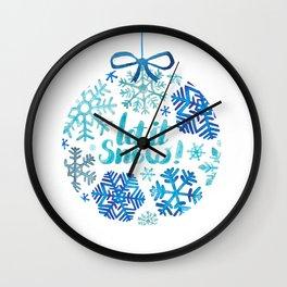Let it snow! Wall Clock