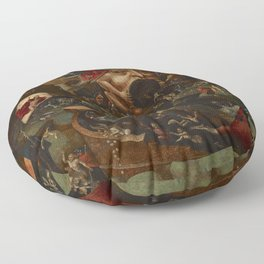 CHRIST IN LIMBO - HIERONYMUS BOSCH  Floor Pillow