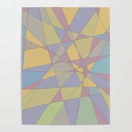 Shattered Yellow & Purple Poster