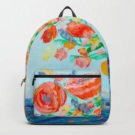 Black cat bouquet Backpack