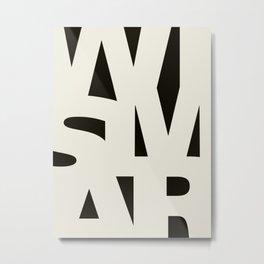 Wismar Typografie Dark Metal Print