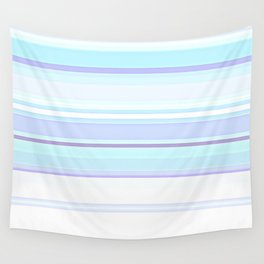 Stripes Pastels Oceans are Blue Pattern Wall Tapestry