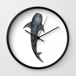 Whale shark Rhincodon typus for divers, shark lovers and fishermen Wall Clock