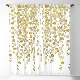 golden string of pearls watercolor 2 Blackout Curtain