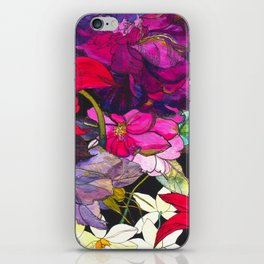 Black Parrot Tulips iPhone Skin