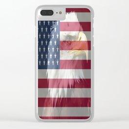 United States Freedom Eagle Clear iPhone Case