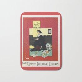 The New Woman, vintage Comedy Theatre london advert Bath Mat