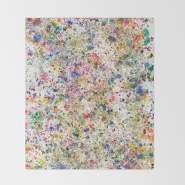 Abstract Artwork Colourful #7 Throw Blanket