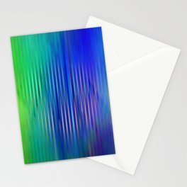 trendy abstract in blue, green and gold Stationery Cards