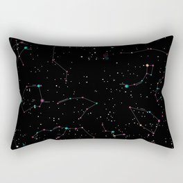 Northern hemisphere constellations pattern Rectangular Pillow
