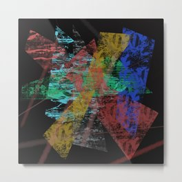 Black abstract designe Metal Print