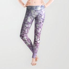Sparkly Unicorn Lilac Glitter Ombre Leggings