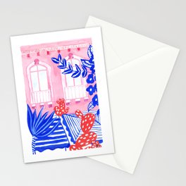 Syracuse, Sicily I // Facades City design serie // Gouache painting Stationery Cards