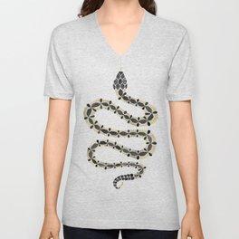 Serpent – Black & Gold Unisex V-Neck
