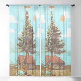 RAIN COLLECTOR Sheer Curtain