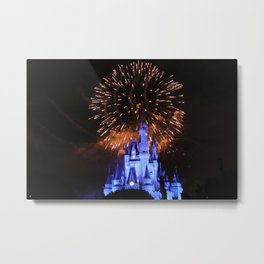 Castle Lights Metal Print