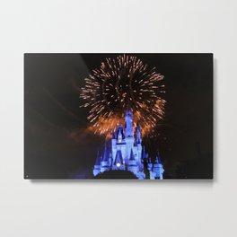 Castle Lights Metal Print