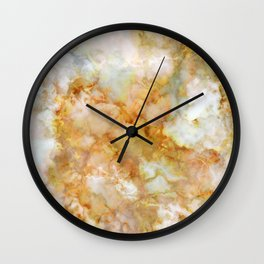 Gold Rippled Marble Wall Clock