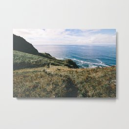 Seaside Bluffs || Oregon Coast Metal Print