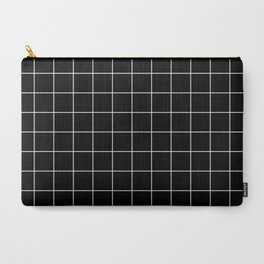 Grid Simple Line Black Minimalistic Carry-All Pouch