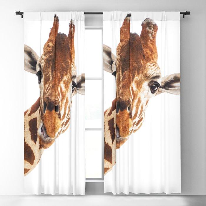 Silly Giraffe // Wild Animal Portrait Cute Zoo Safari Madagascar Wildlife Nursery Ideas Decor Blackout Curtain