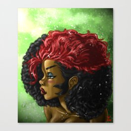 Kizzy Hair out Canvas Print